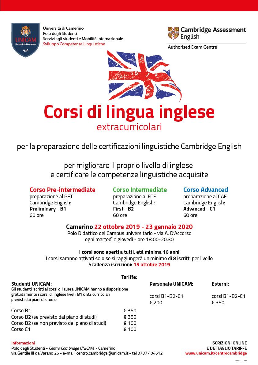 Corsi Di Lingua Inglese Extracurricolari Livello B1 B2 C1